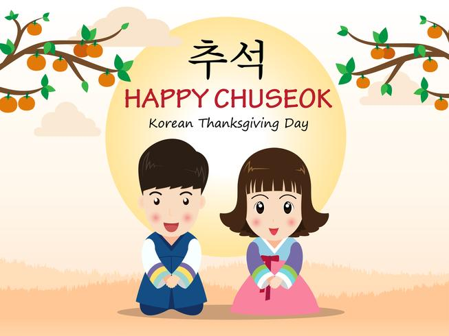 vector-chuseok-or-hangawi-korean-thanksgiving-day-cute-cartoon-kids-in-korean-traditional-costume